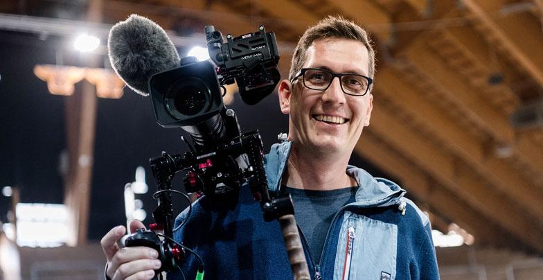 Hinter den Kulissen einer Videoproduktion
